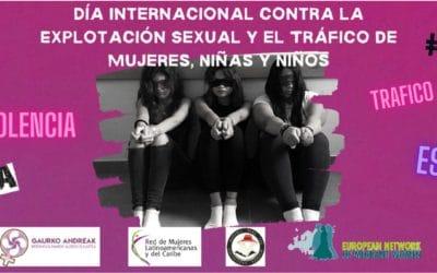 23S Día internacional contra la explotación sexual y el tráfico de mujeres y niñas/os.
