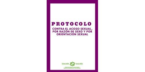 Protocolo contra el acoso sexual, por razón de sexo y por orientación sexual
