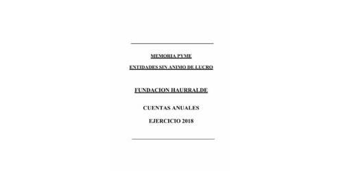 Cuentas anuales 2018